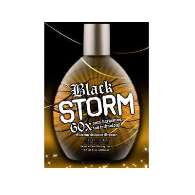 Millenium Tanning Black Storm Tanning Lotion, Bronzer, 60x, 13.5oz