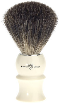 Edwin Jagger 89p17 Pure Badger Hair Shaving Brush, Ivory, Medium