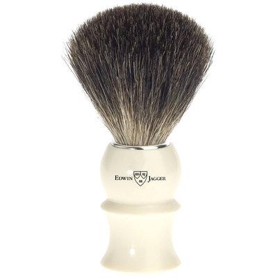 Edwin Jagger 89p17 Pure Badger Hair Shaving Brush, Ivory, Medium