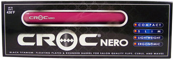 TurboIon Croc Nero Pink 3/4-inch Flat Iron