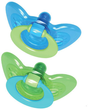Tomy GumDrop Hospital Pacifier with Ring (Blue/Green) - 3-6 months