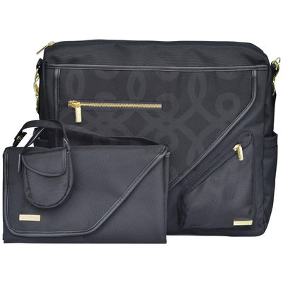 JJ Cole Metra Diaper Bag - Black and Gold - 1 ct.
