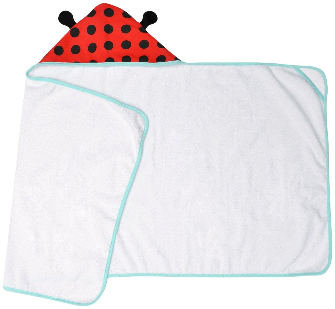 JJ Cole Hooded Towel - Lady Bug - 1 ct.