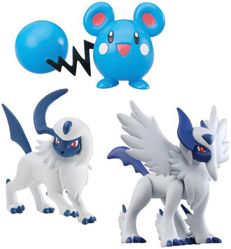 Pokemon 3 Pack Figures- Mega Absol, Azurill, Absol - 1 ct.