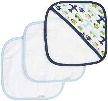 Jj Cole Collections JJ Cole Washcloth- White Vroom