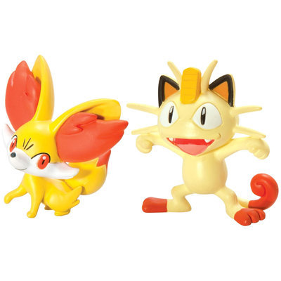 Pokemon 2 Pack Small Figures Fennekin vs Meowth