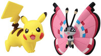 Pokemon 2 Pack Small Figures Pikachu vs Vivillion - 1 ct.