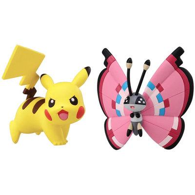 Pokemon 2 Pack Small Figures Pikachu vs Vivillion - 1 ct.