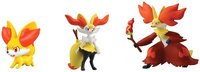 Pokemon 3 Figure Pack-Fennekin, Braixen and Delphox - 1 ct.
