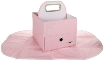 Jj Cole Collections JJ Cole Diapers and Wipes Caddy- Pink Heather