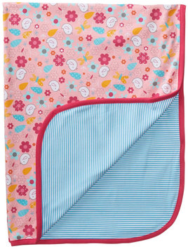 Zutano Friendly Bird Blanket (Baby) - Pink - 1 ct.
