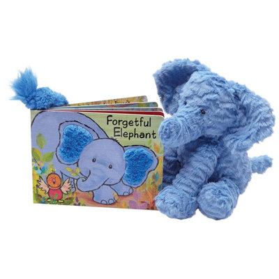 Jellycat Forgetful Elephant Book - 1 ct.
