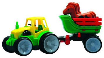 Gowi Toys Austria Get Ready 561-07 Gowi Toys Tractor with Horse Wagon
