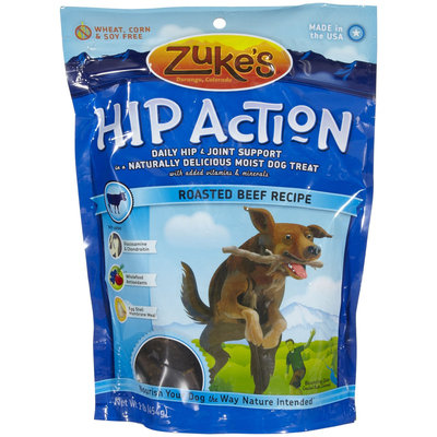 Zukes 16 Oz Hip Action Beef Flavor Dog Treats