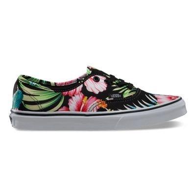 Vans Authentic Skate Shoe - Women's (Hawaiian Floral) Black, 9.0