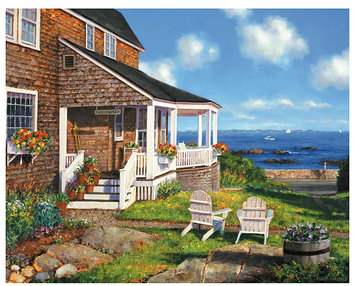 Taylor Gifts White Mountain Puzzles Ocean Avenue (1000 pc)
