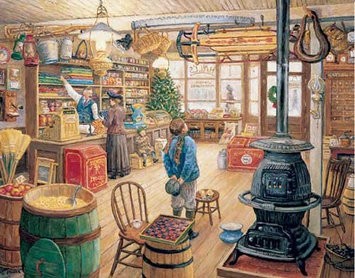 White Mountain The Olde General Store Jigsaw Puzzle