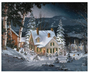 Taylor Gifts White Mountain Puzzles Friends in Winter (1000 pc)