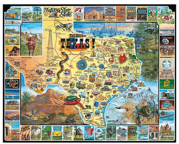 White Mountain Puzzles Best of Texas (1000 pc)