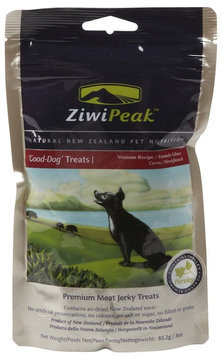 ZiwiPeak Good-Dog Venison Jerky Dog Treats 3 oz.
