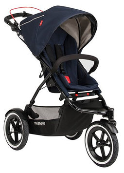 phil & teds Navigator Stroller in Midnight Blue