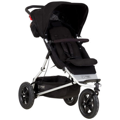 Mountain Buggy Plus One Inline Double Stroller (Black)