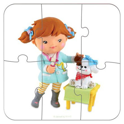 Janod 4 In 1 Puzzle- Lou Plays Veterinary