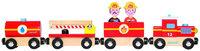 Juratoys Story Firefighter Train Wooden Train