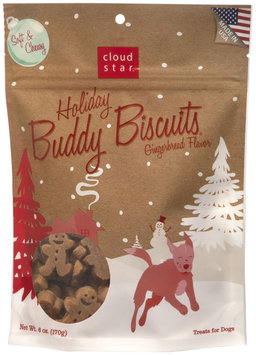 Cloud Star Buddy Biscuits SOFT & CHEWY Dog Treats - Holiday Gingerbread 6 oz. - 12711