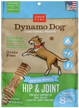 Cloud Star Dynamo Dog Functional Dental Bones Small Bone - Hip & Joint