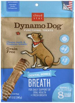 Cloud Star Dynamo Dog Functional Dental Bones Small Bone - Breath