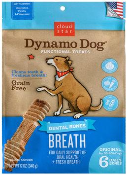 Cloud Star Dynamo Dog Functional Dental Bones Original Bone - Breath