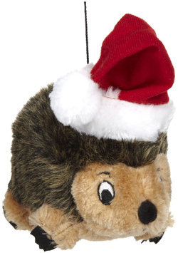 Kyjen Christmas Plush Puppies Junior Hedgehog with Hat Play Toy Pet Accessories