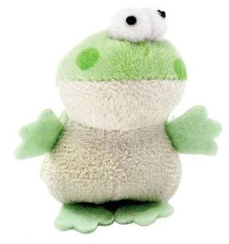 MultiPet MU36483 Look Whos Talking For Cats - Plush Talking Animals - Frog