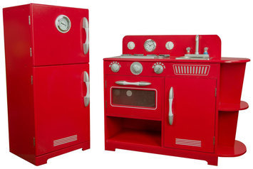 Teamson Kids Play Kitchen, Red