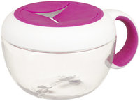 OXO Tot Flippy Snack Cup with Travel Cover (Pink)