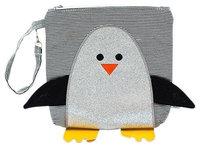 Nikiani Snack Bag Chili - Silver Glitter Penguin