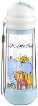 Buggygear Drinkadeux Glass Double Wall Bottle - Sky/Zoo - 1 ct.