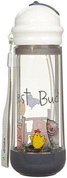 Buggygear Drinkadeux Glass Double Wall Bottle - Pebble/Bestbuds - 1 ct.