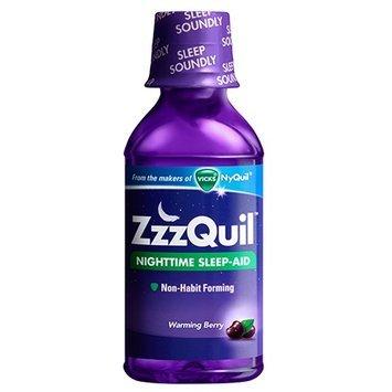 ZzzQuil Nighttime Sleep-Aid Liquid, Warming Berry