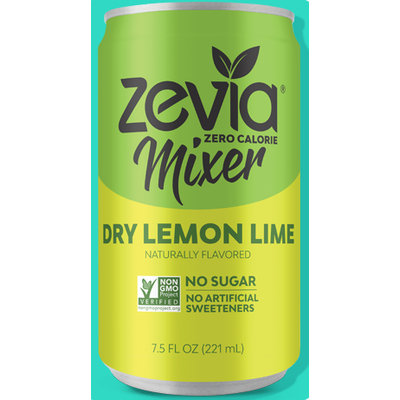 Zevia Zero Calorie Dry Lemon Lime Mixer Soft Drink