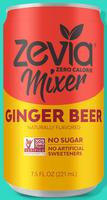 Zevia Zero Calorie Ginger Beer Mixer Soft Drink