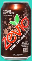 Zevia Zero Calorie Ginger Root Beer Soda Soft Drink