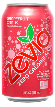 Zevia Zero Calorie Grapefruit Citrus Soda Soft Drink