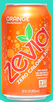 Zevia Zero Calorie Orange Soda Soft Drink