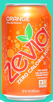 Zevia Zero Calorie Orange Soda Soft Drink