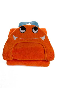 Little Ashkim HTM002 Toddler Monster Hooded Turkish Towel - Orange 2 Years-5 Years