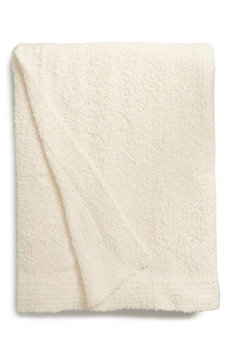 Barefoot Dreams 'CozyChic' Ribbed Blanket Cream Twin