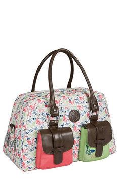 L Ssig Lassig Vintage Metro Type Diaper Bag - Butterfly Spring