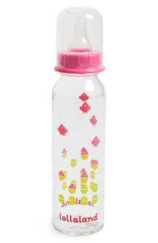 Lollaland Glass Baby Bottle (Red) - 8 oz